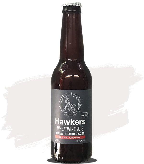 Hawkers Crux 2018 - Aquavit Barrel Wheatwine (Blood Orange)