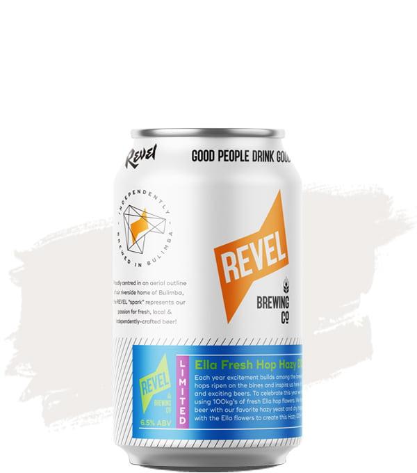 Revel brewing Ella Fresh Hop Hazy DDH SHIPA