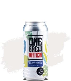 One Brew Nation/Alefarm DDH Hazy Pale Ale with Rainforest Lime