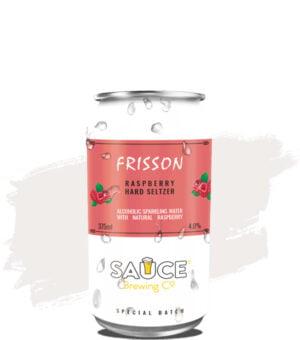 Sauce Frisson Raspberry Seltzer
