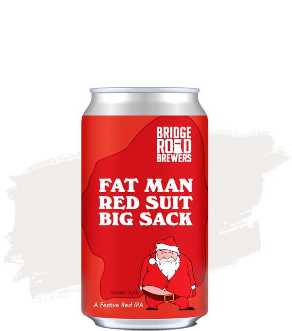 Bridge Road Fat Man Red Suit Big Sack Can