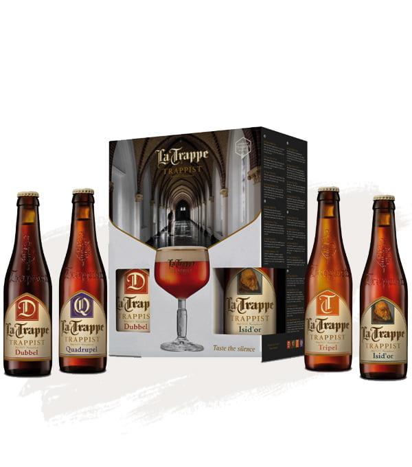 La Trappe Gift Pack - 4 bottles + 1 Free Goblet-